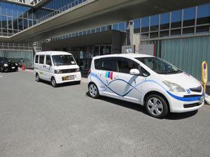 済生会下関総合病院専属タクシープールの様子